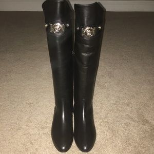 Brand New Versace Black Leather Boots